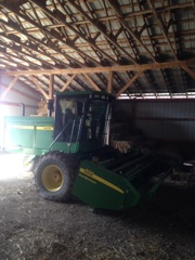 2003 14ft John Deere 4895 Swather / Windrower, Low Hours (sold off