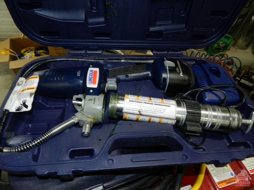 18V Lincoln PowerLube Grease Gun | Penner Auctions | Used