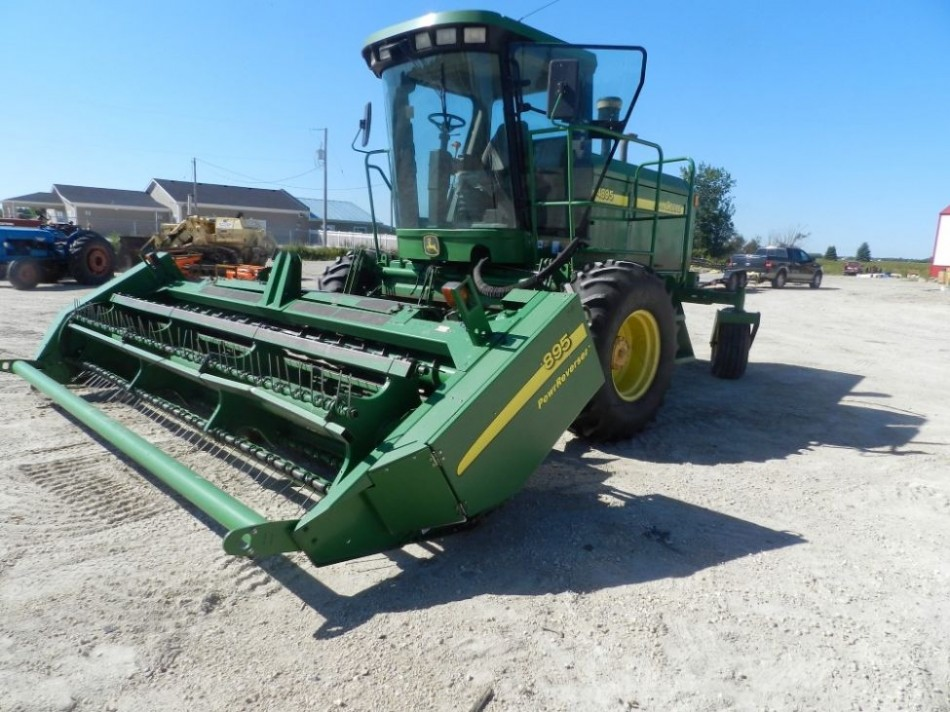 2003 John Deere 4895 SP Windrower | Penner Auctions | Used Heavy