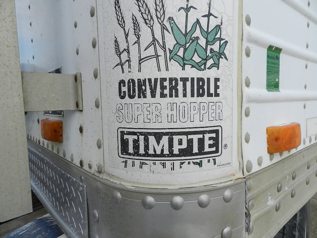 timpte super hopper convertible double hopper bottom grain trailer penner auction sales