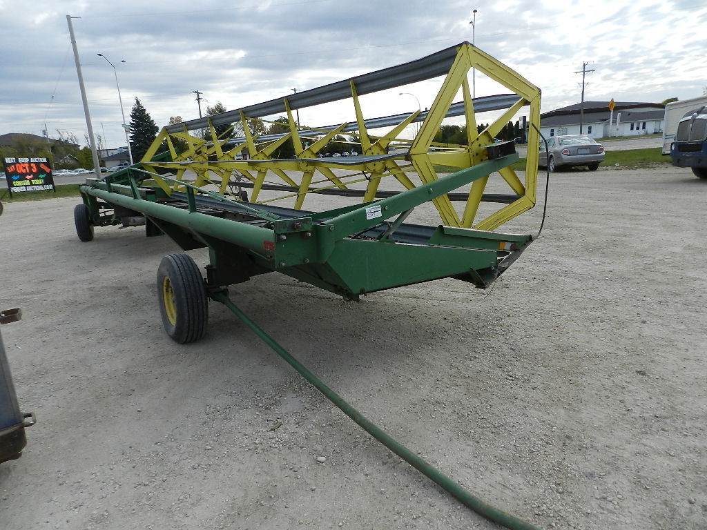 john deere ft pull type swather penner auction sales